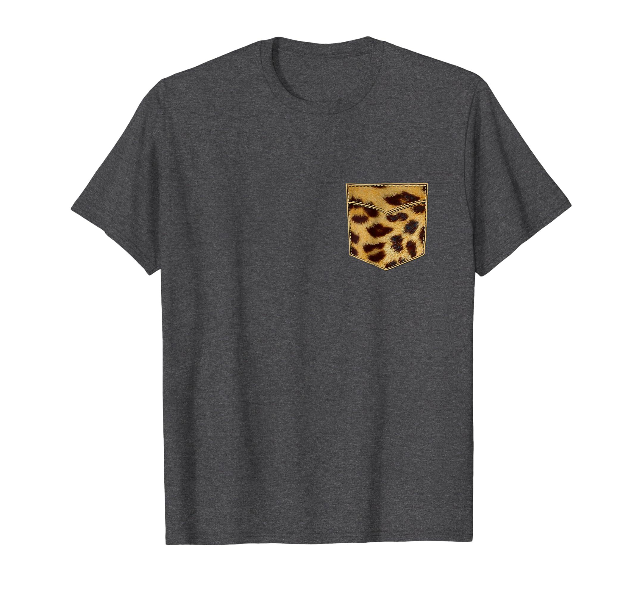 Amazoncom Leopard Print Shirt Leopard Pocket Tee Leopard Design