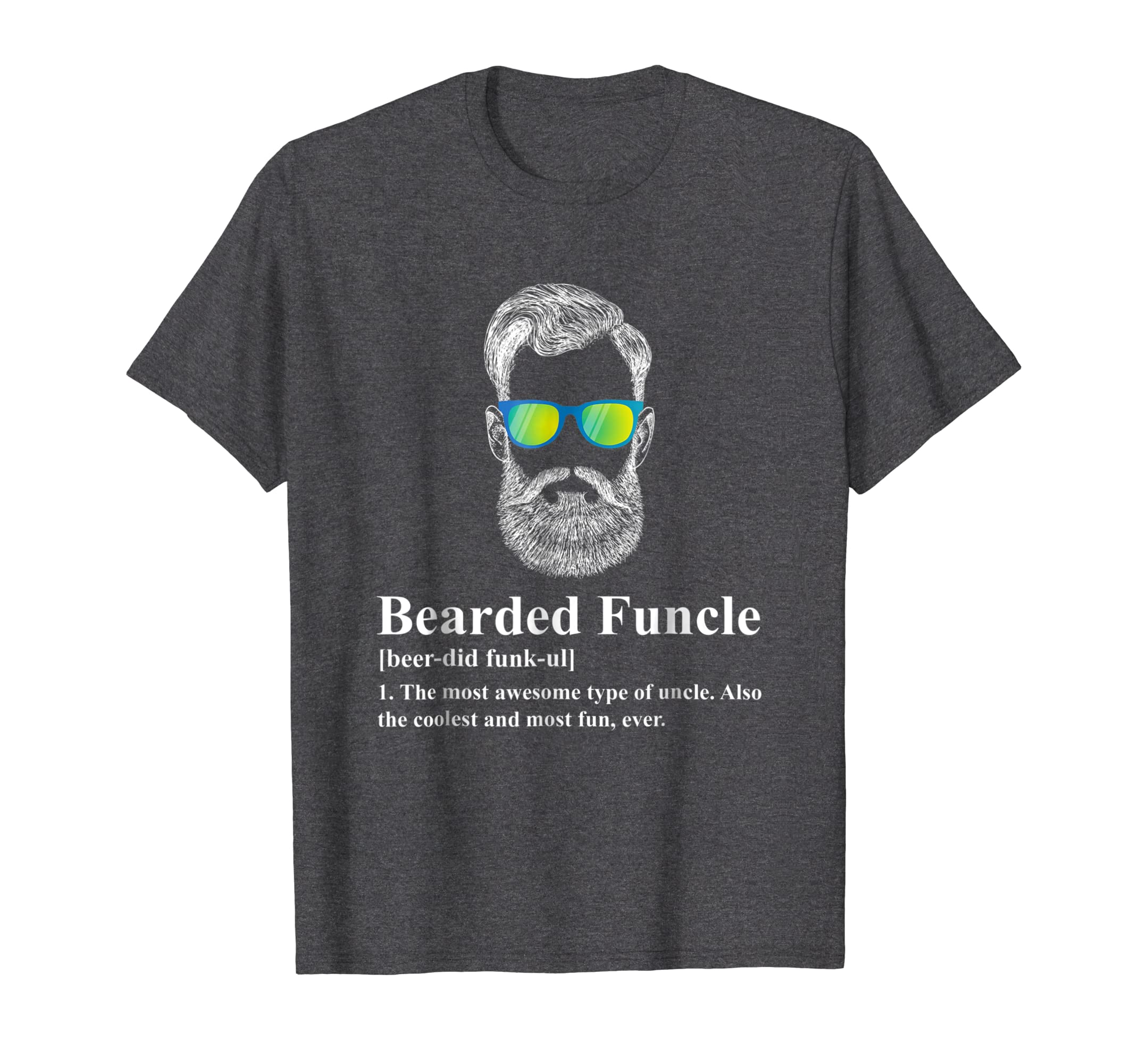 Amazon Funny Bearded Funcle Shirt For Men Clothing