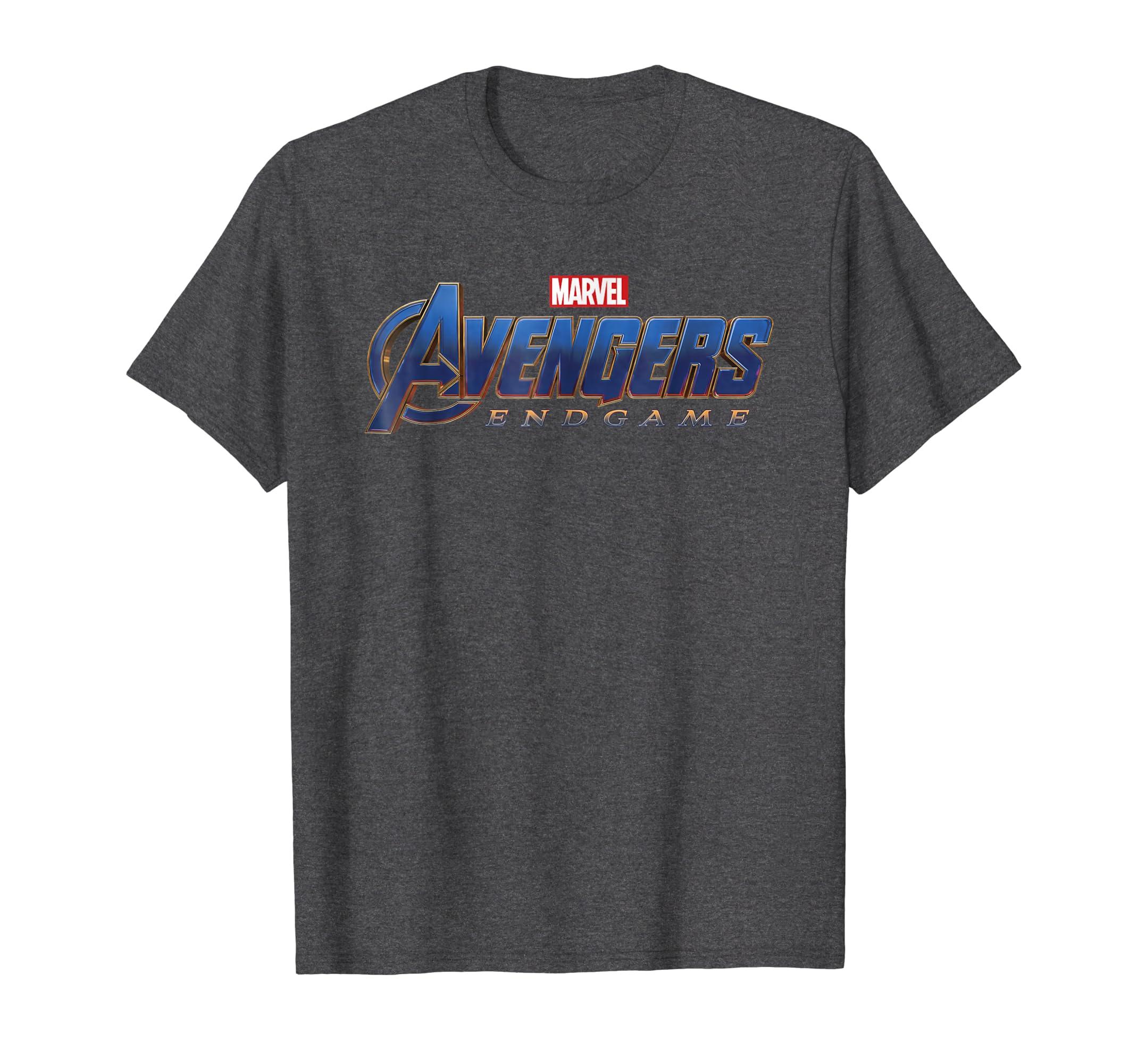 e56a387a56d Amazon.com  Marvel Avengers Endgame Movie Logo Graphic T-Shirt  Clothing