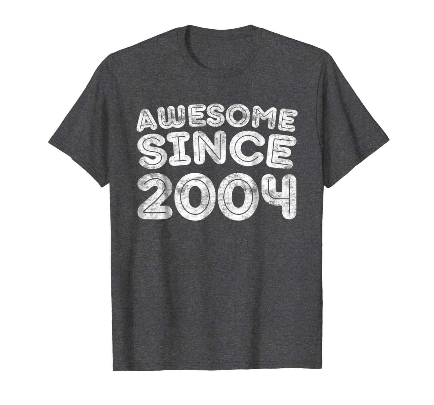 41a371f2 Amazon.com: Awesome Since 2004 T-Shirt 15th Birthday Gift Shirt: Clothing