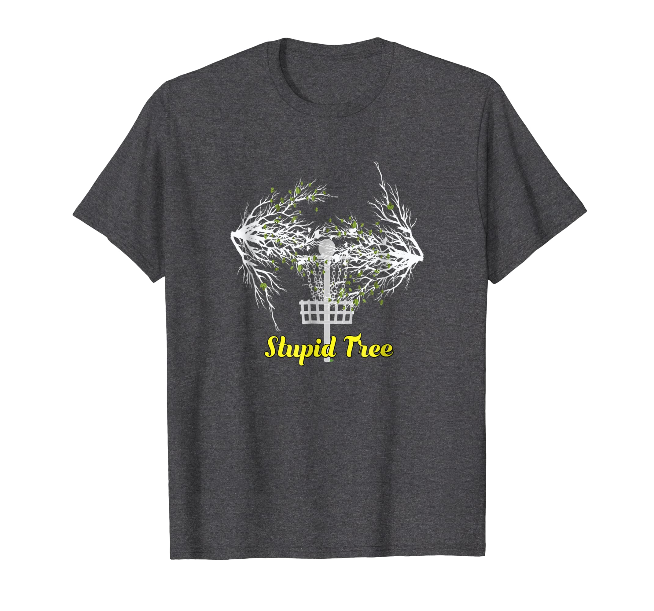 e84029f68 Amazon.com: Stupid Tree Disc Golf T-Shirt Funny Frisbee Golf Frolf Tee:  Clothing