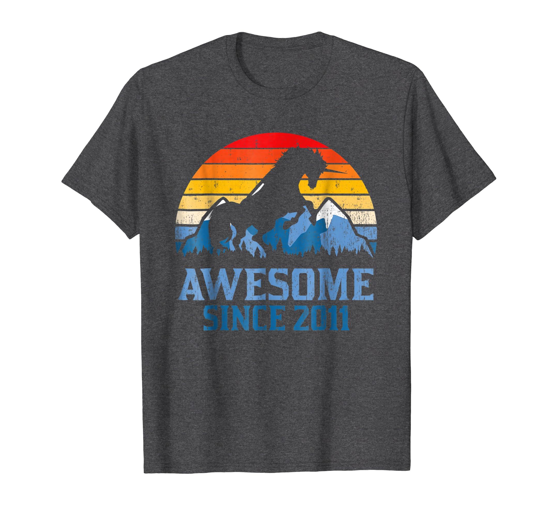 7th Birthday Gift Shirt Unicorn 7 Year Old T Shirt for Girl-SFL