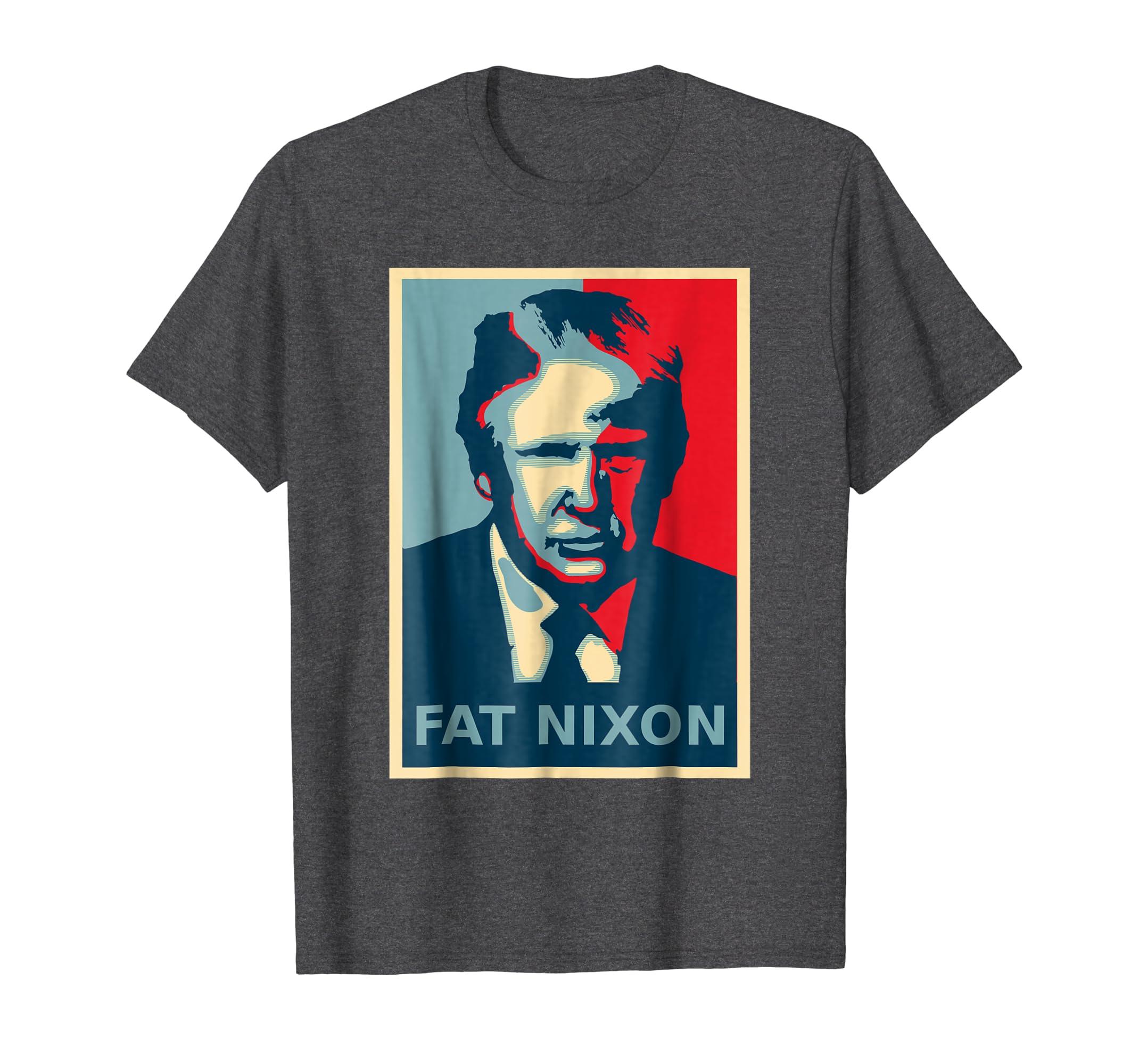 Anti Trump Lock Him Up Fat Nixon Political Poster Shirt