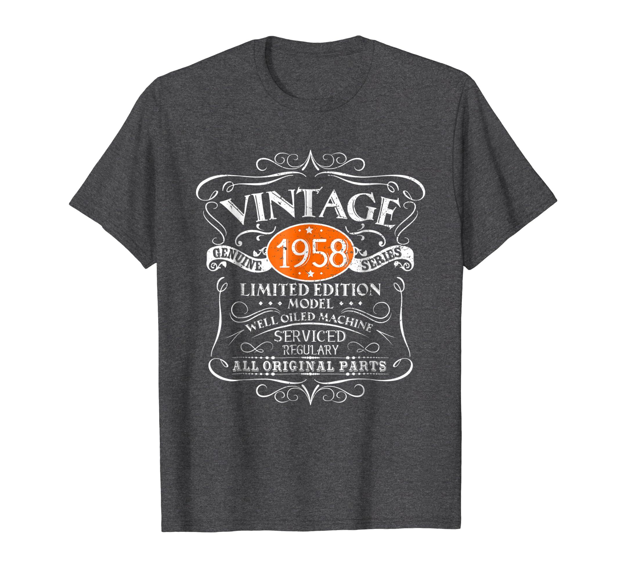 Vintage 60th Birthday Funny Tshirt 1958 All Original Parts-Yolotee