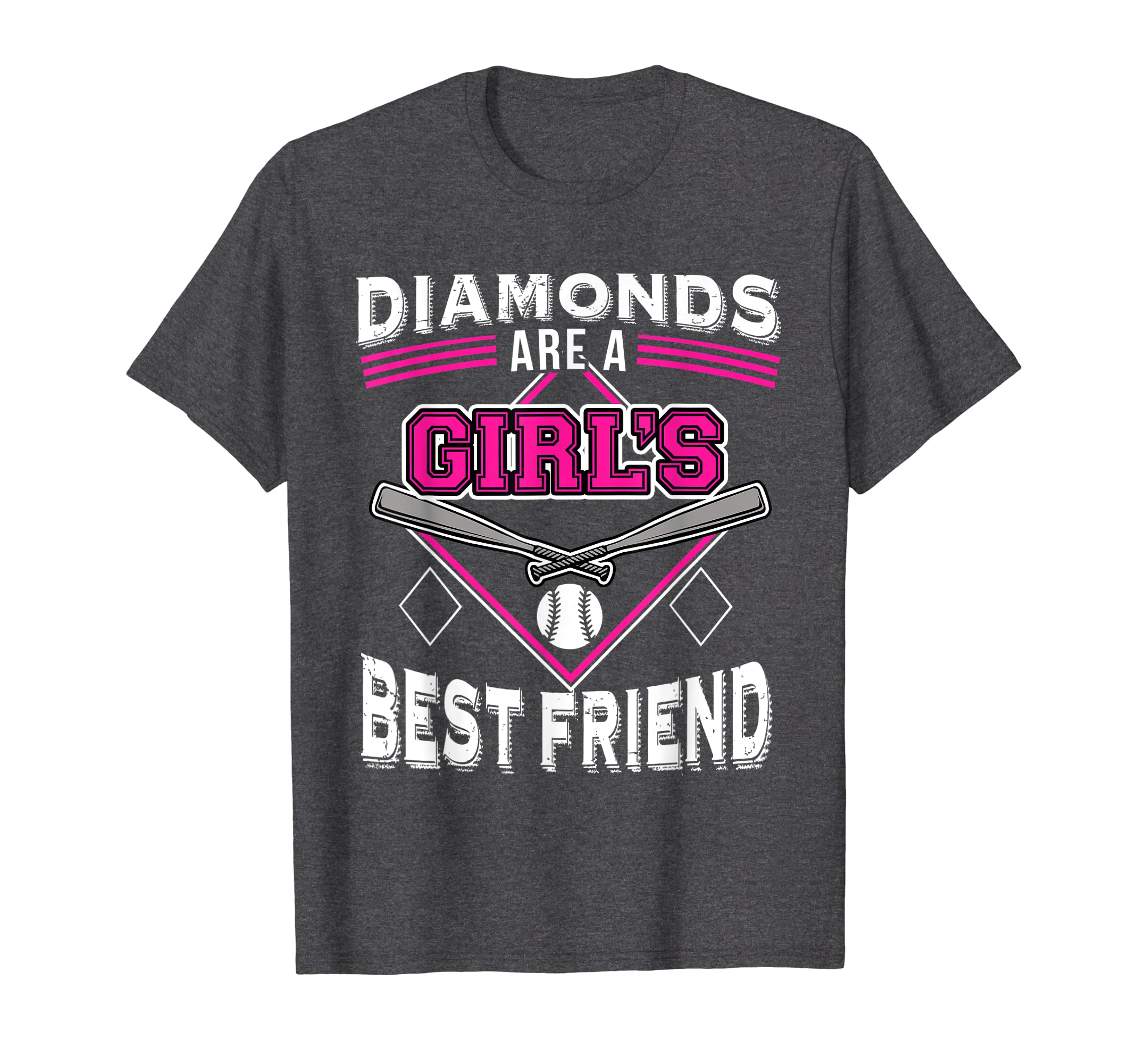 Amazon Com Funny Softball T Shirt Diamonds Are A Girl S Best