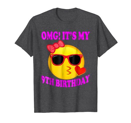 Amazon Birthday Emoji Shirts For Girls 9th Clothing