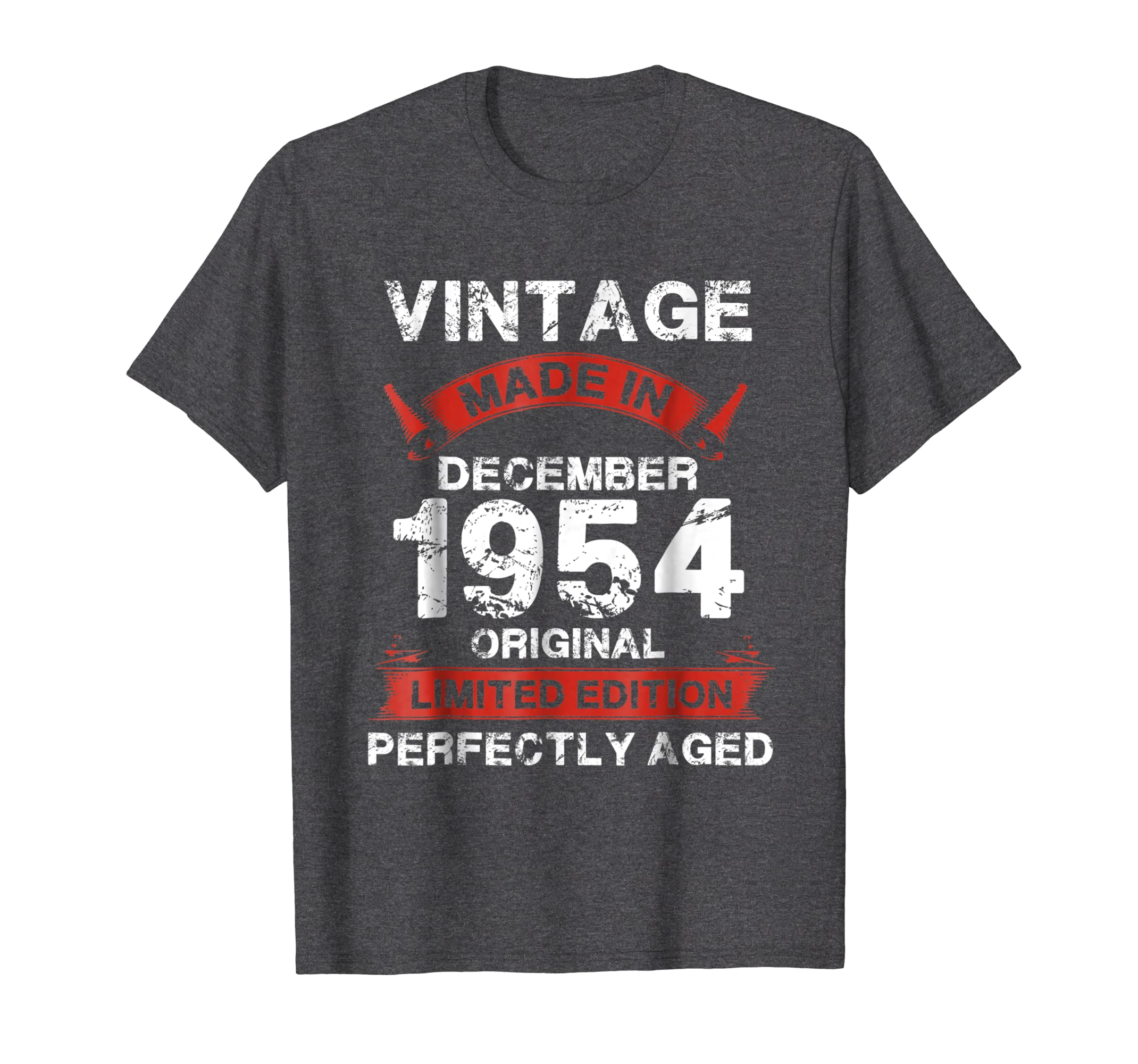 Vintage For December 1954 64th Years Old 64 Birthday Shirt Newstyleth