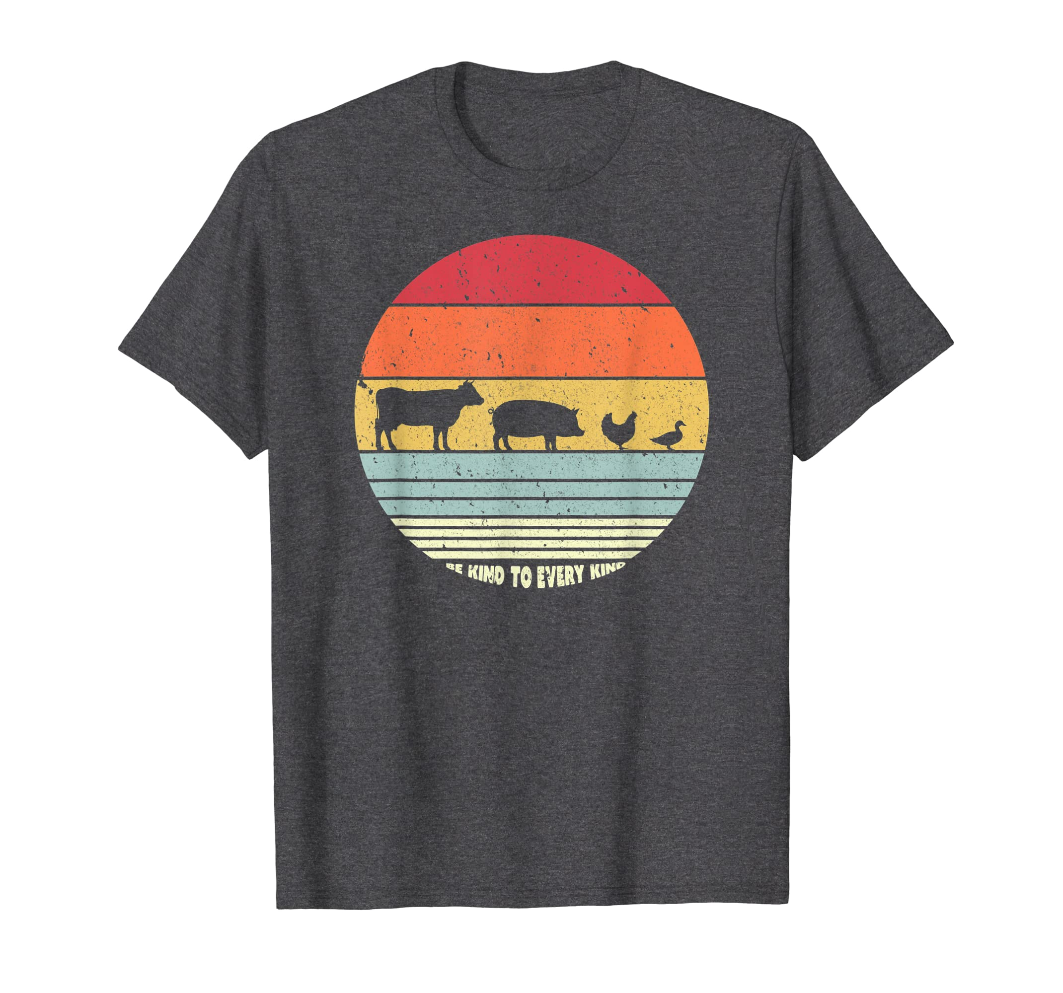 Be Kind To Every Kind T Shirt, Vegan Vegetarian Retro Tee-Yolotee