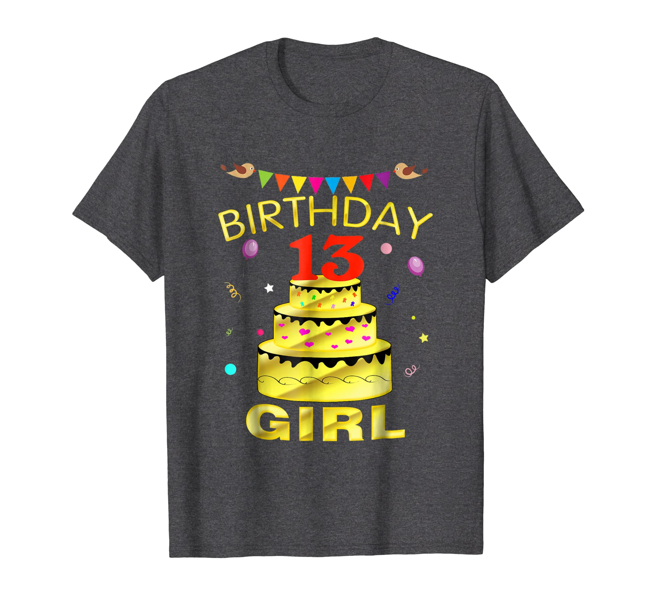 13 Years Old 13th Golden Birthday Girl Decorations Shirt