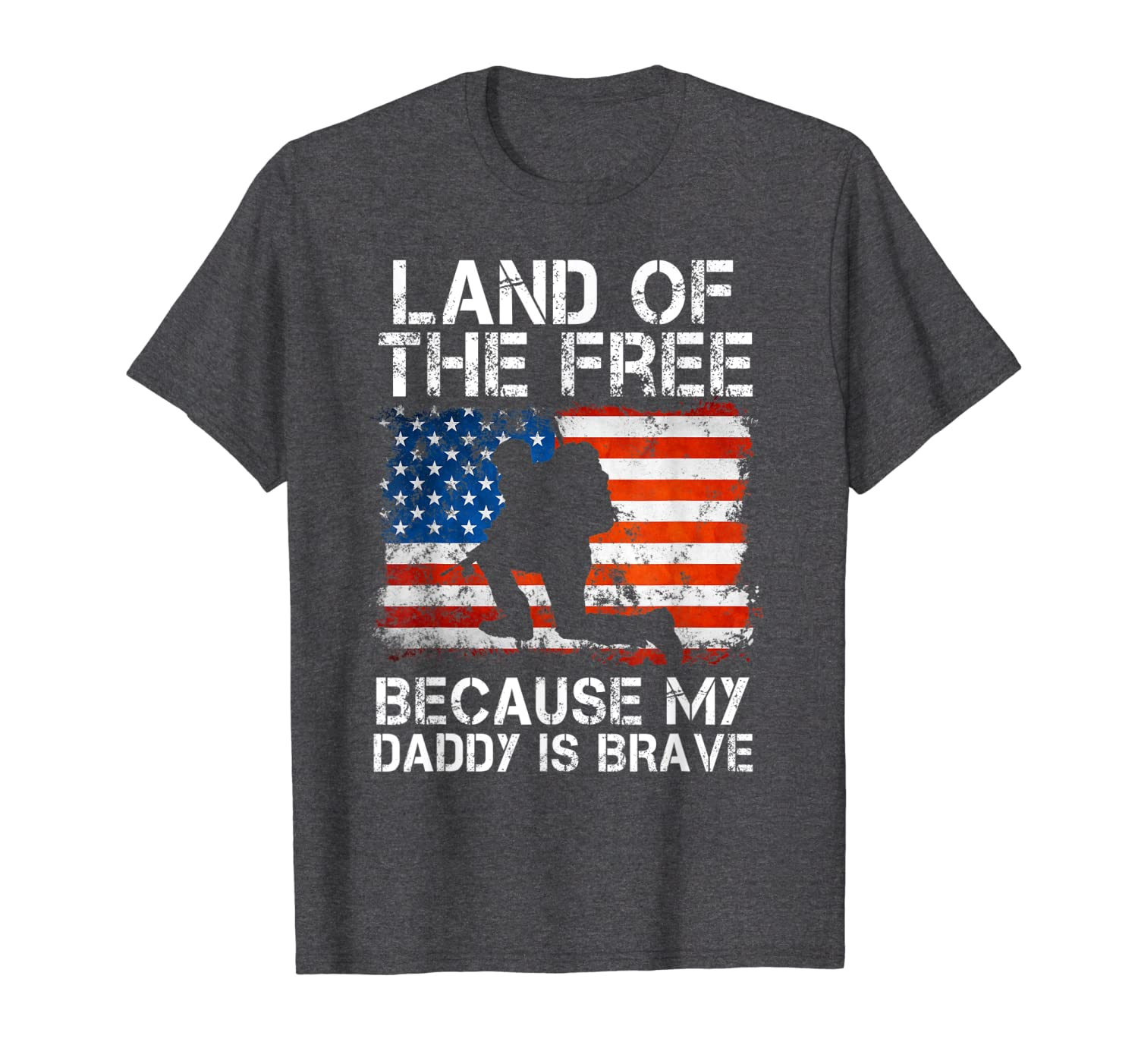 Land Of The Free Because My Daddy Is Brave Military Child-ANZ