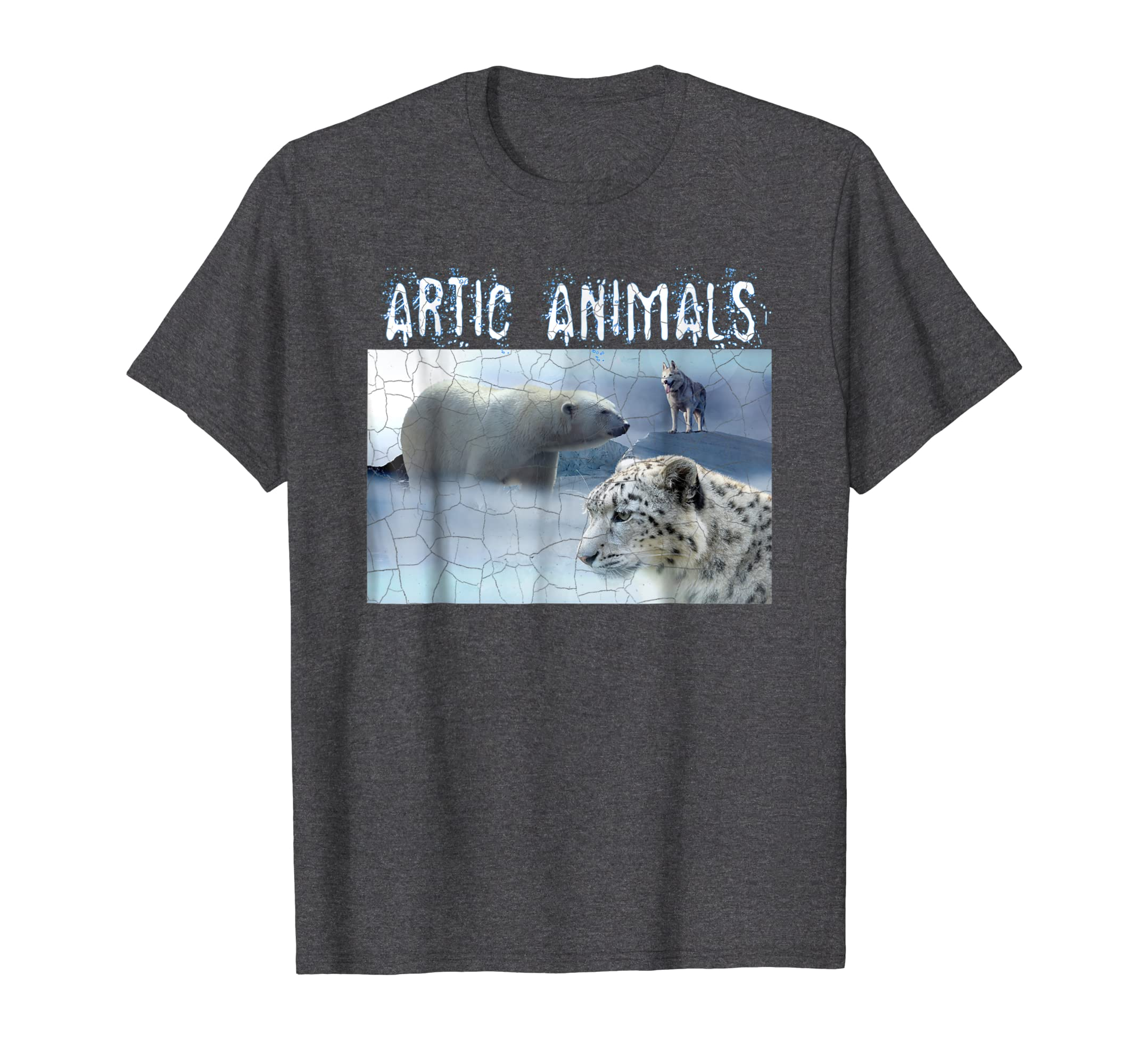 Artic Animals, PolarBear Alaskan Malamute Snow Leopard Shirt-AZP