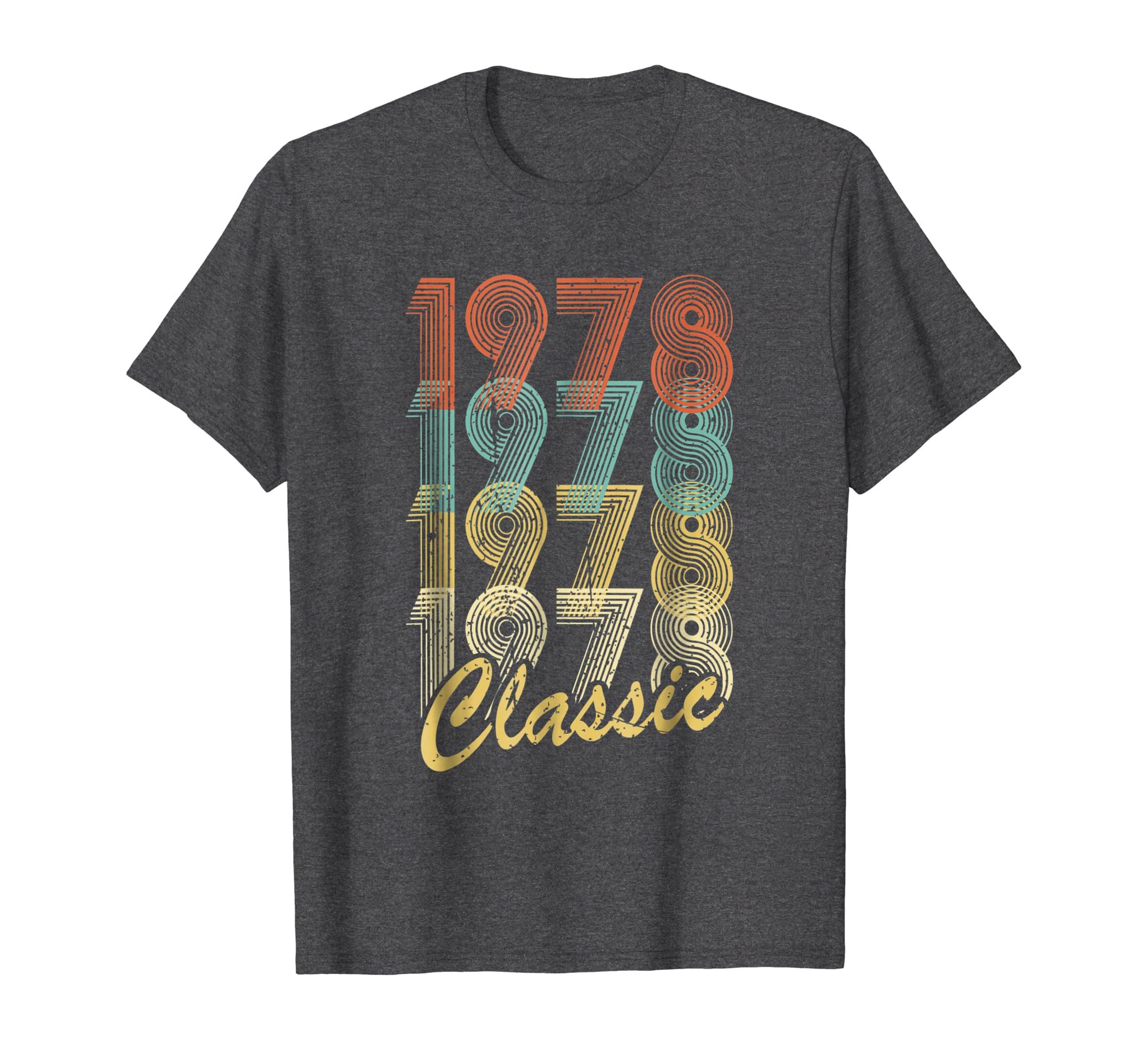 40th Birthday Gift Retro style 1978 Classic Vintage T Shirt-Teesml