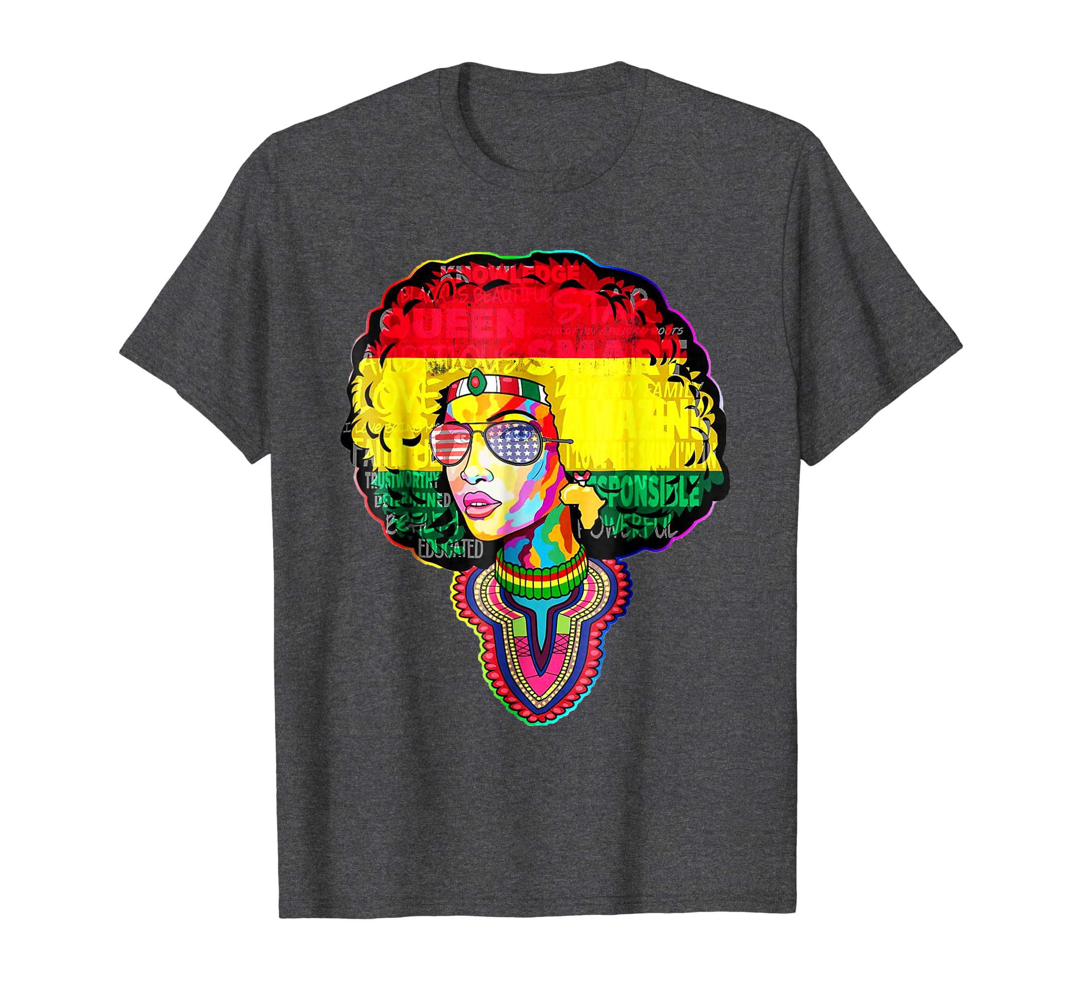 Afro Black Women Shirt Dashiki Afro Black Melanin Queen-SFL