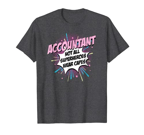 Accountant Superhero Shirt Cute Comic Tee Gifts Idea