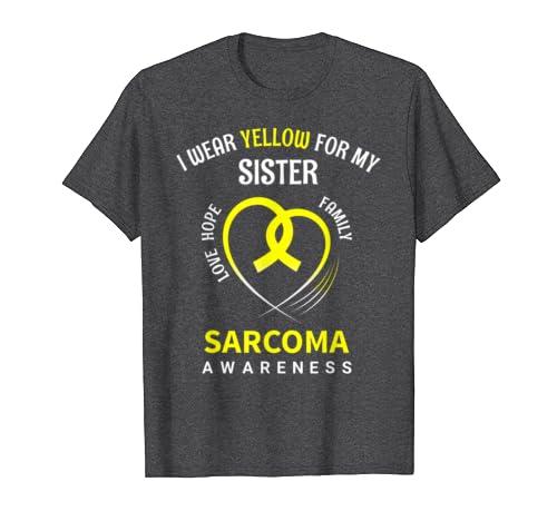 Sarcoma Awareness Sister Shirt-Bone Cancer Awareness T-Shirt