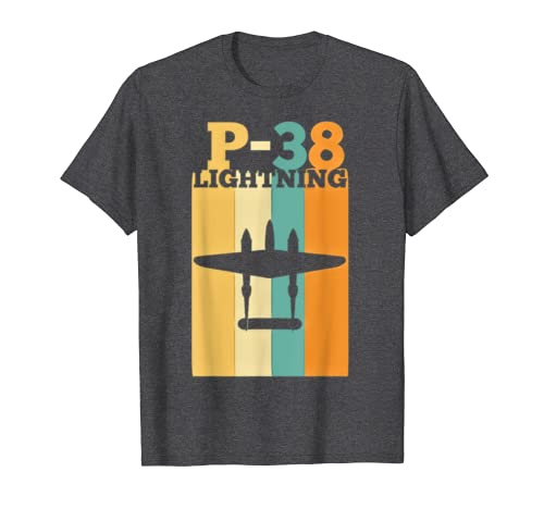 Vintage Warbird P-38 Lightning Fighter Airplane T-Shirt