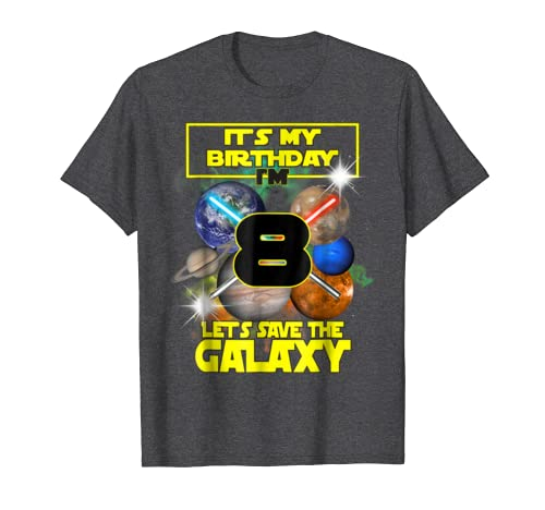 Amazon Space Planets Birthday Shirt 8 Boys Girls Save The Galaxy Clothing
