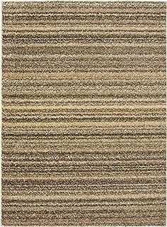Garland Rug Striped Shag, 4 ft. x 5 ft. 5 in. , Random Earthtone