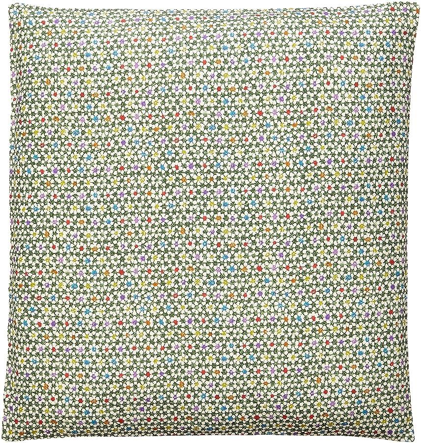 公爵ペイント汚染された花々(hanahana) カバー グリーン 55×59cm 日本製 銘仙判 花ちりめん 53-958