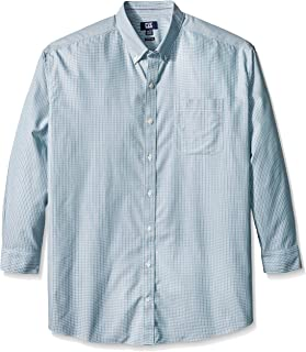Cutter & Buck Men's Big and Tall Long Sleeve Camano Wrinkle Free Check