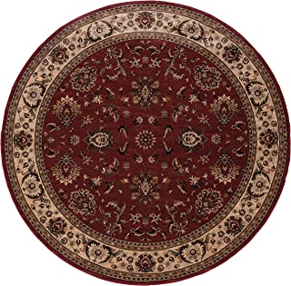 6' x 6' Round Oscar Isberian Rugs Area Rug Red/Ivory Color Machine Made Egypt