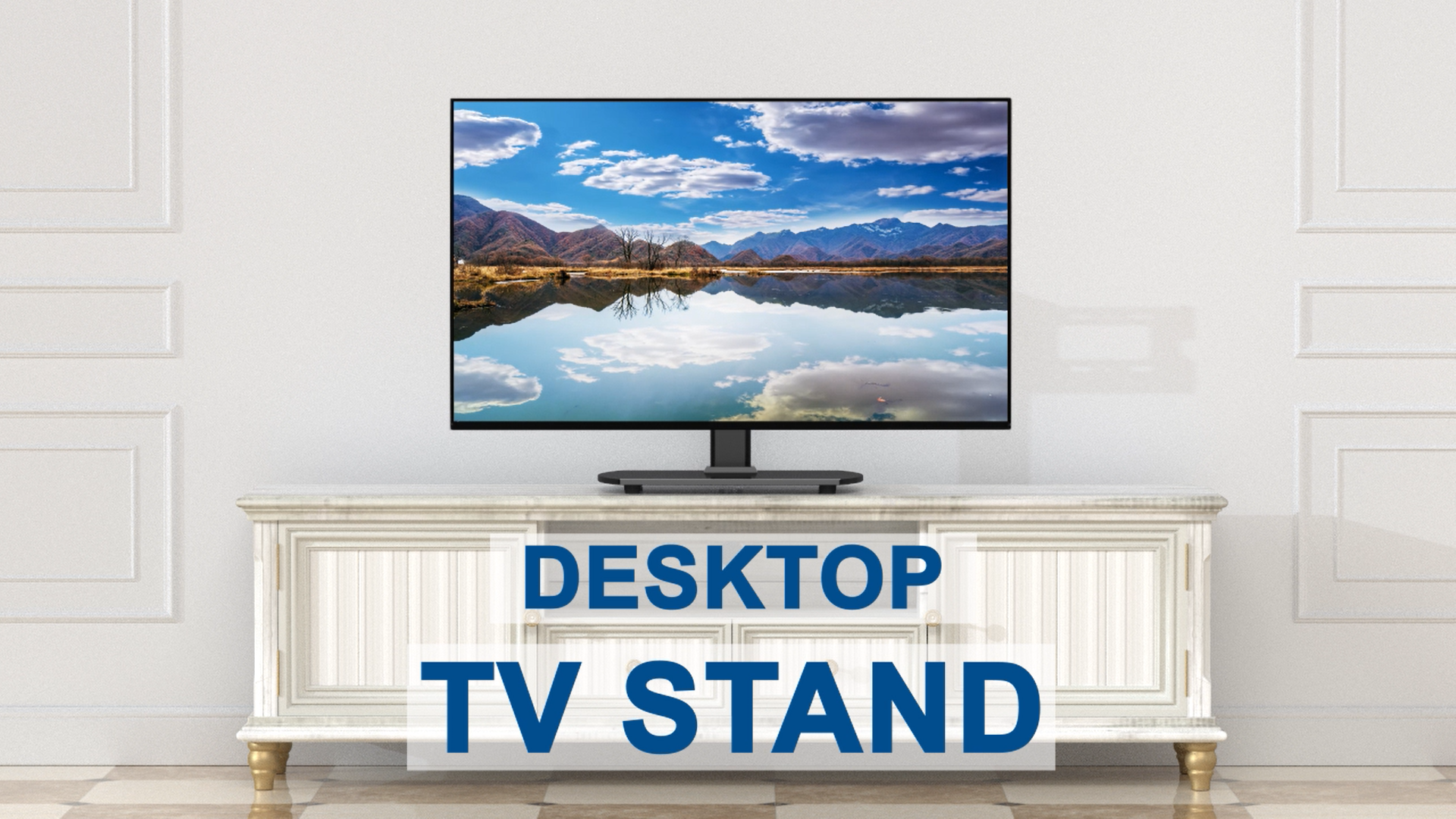Rfiver Swivel Tabletop Tv Base Stand For Most 32 55 Amazon Co Uk Electronics