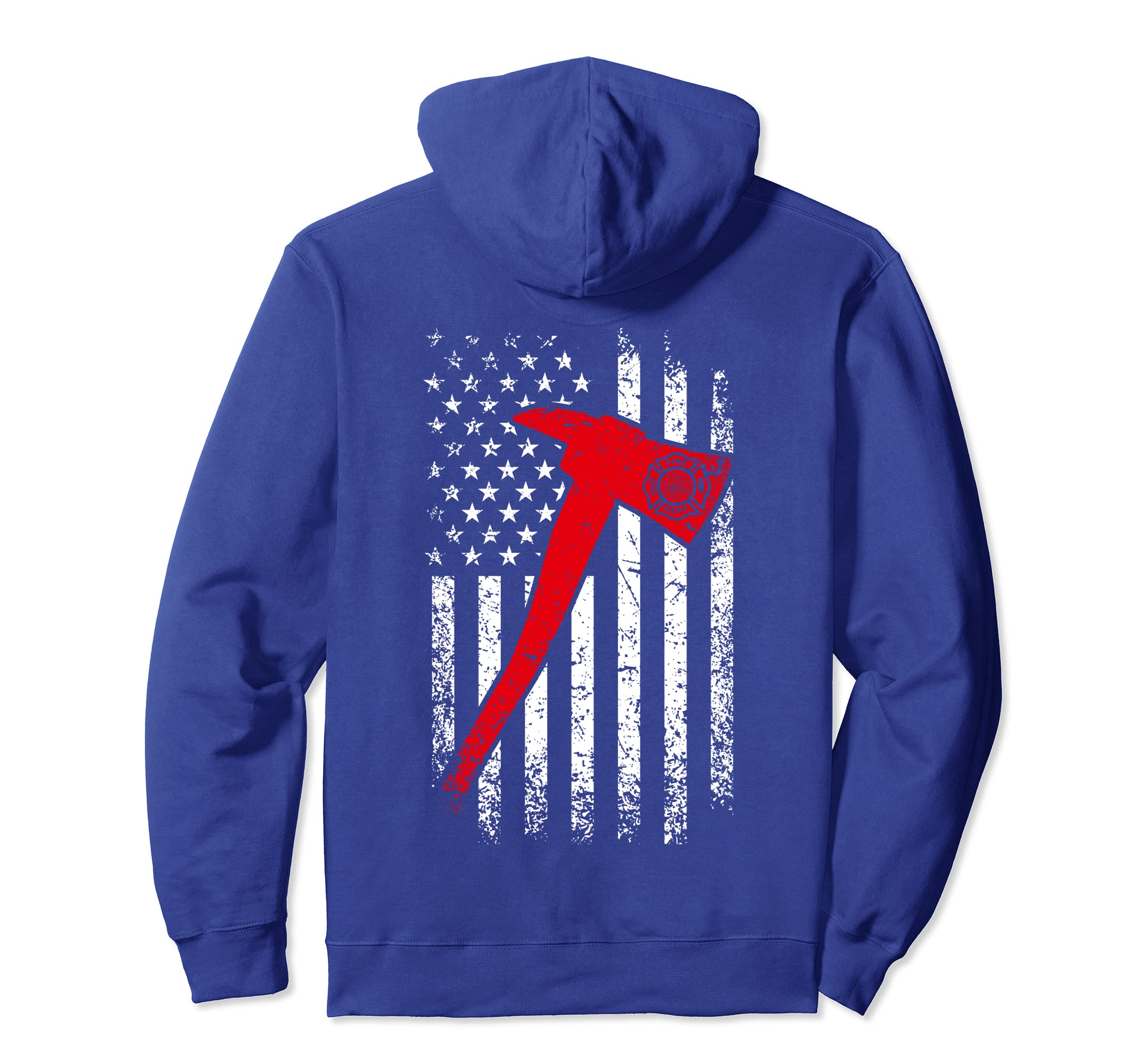 f0d72b82 Amazon.com: Thin Red Line Firefighter Hoodie Fire Axe Distressed Hoodie:  Clothing