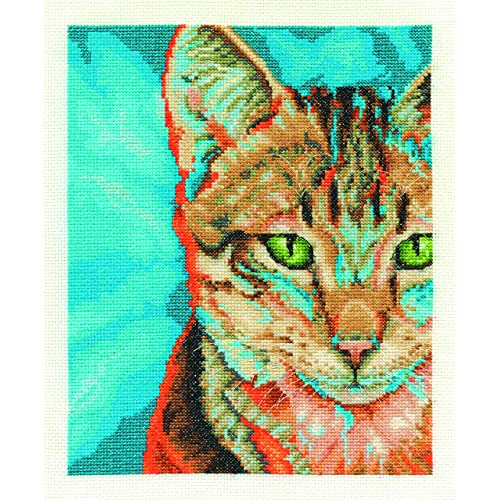 APRIL SHOWERS CAT IN THE RAIN! CROSS STITCH KIT CATS PROTECTION