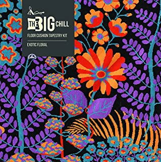 DMC The Big Chill géant Coussin de Sol kit de Tapisserie – Floral Exotique.