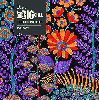DMC The Big Chill géant Coussin de Sol kit de Tapisserie–Floral Exotique.
