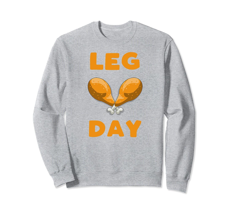 Funny Turkey Trot Leg Day Thanksgiving Day Gift Sweatshirt