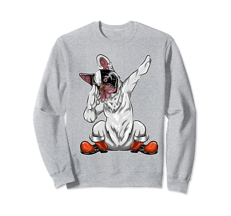 Christmas Gifts Santa Costume Dabbing Dog French Bulldog Sweatshirt-Cotoa