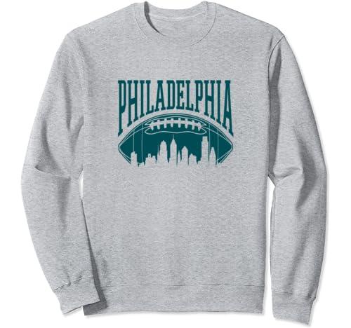 Philadelphia Football Vintage Philly Skyline Eagle Gift Sweatshirt