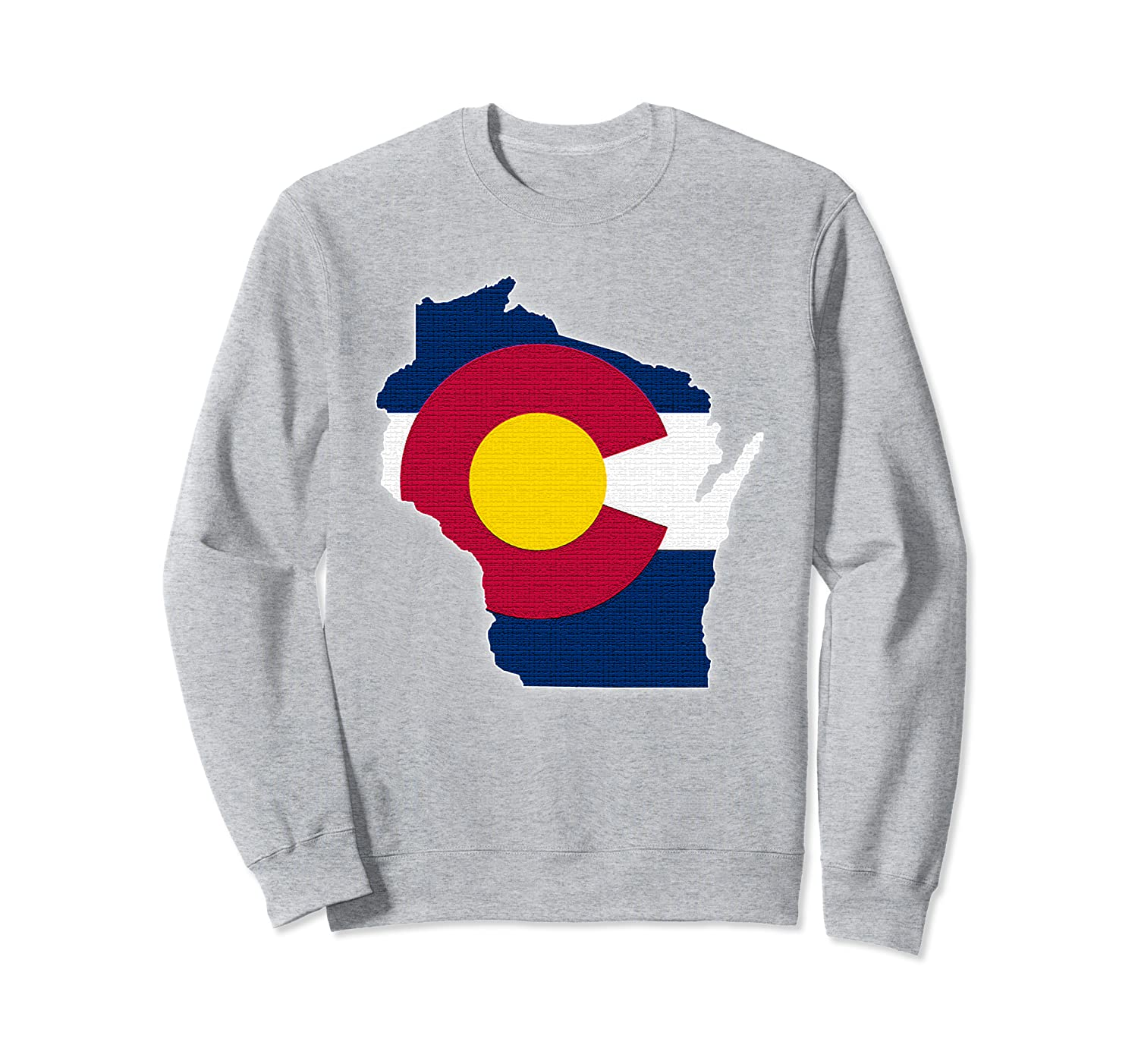 WISCONSIN STATE MAP COLORADO CO Flag Roots Men Women Gift Sweatshirt-TH