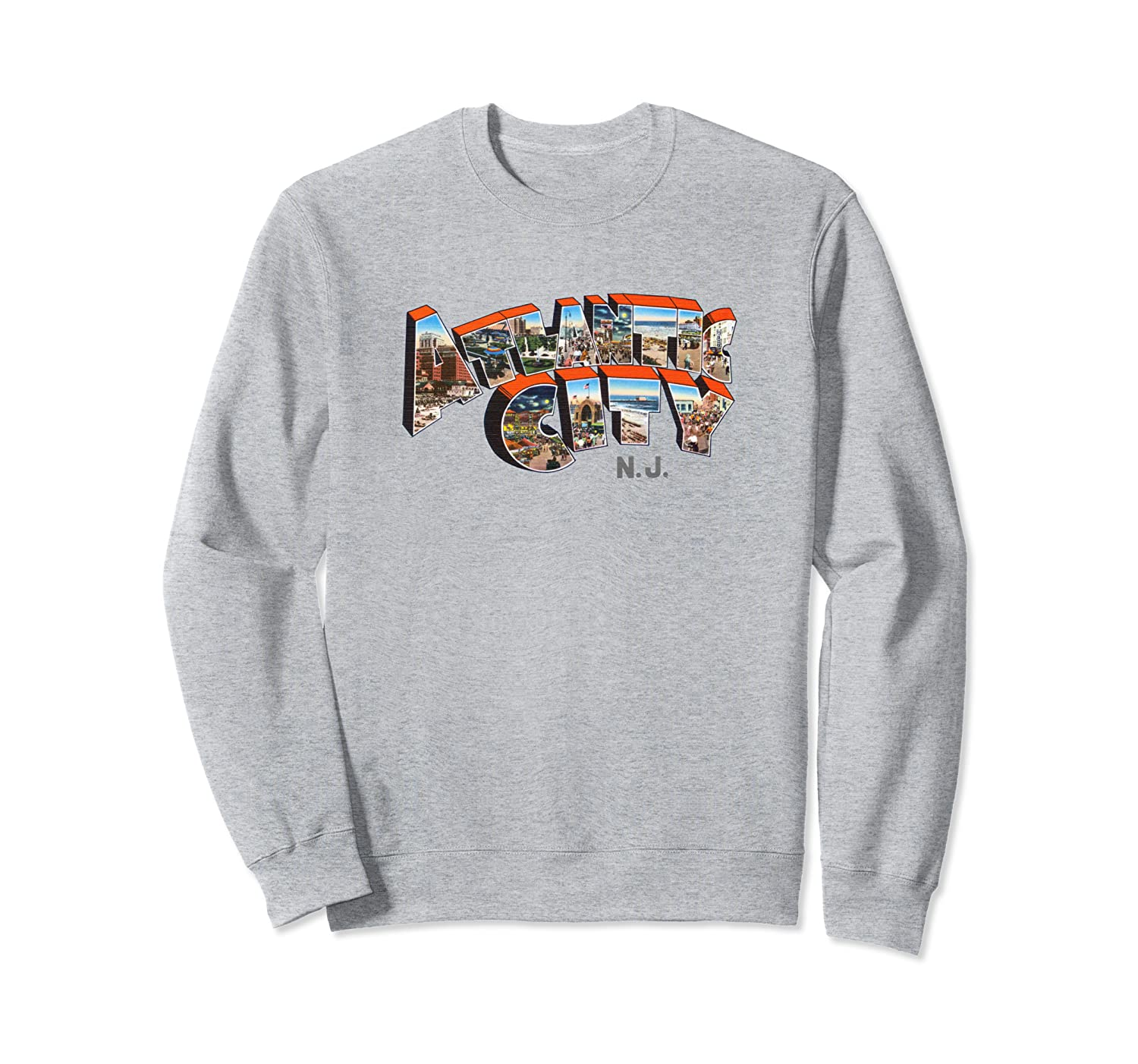 Atlantic City Sweatshirt Retro New Jersey NJ Souvenir Shirt