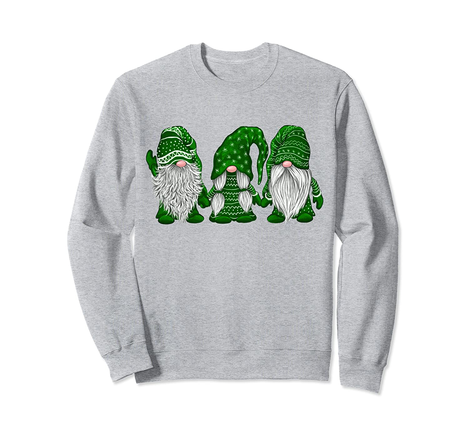 Hanging With Green Gnomies Santa Gnome Christmas Costume Sweatshirt-TH