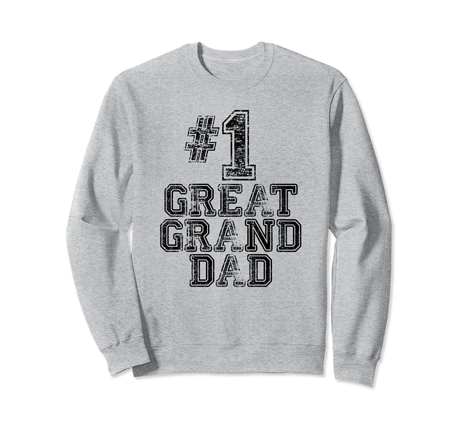 #1 Great GrandDad - Number One Sports Father's Day Gift Sweatshirt-TH