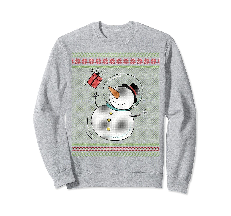 Astronaut Xmas Snowman Tacky Christmas Party ABX109 Sweatshirt