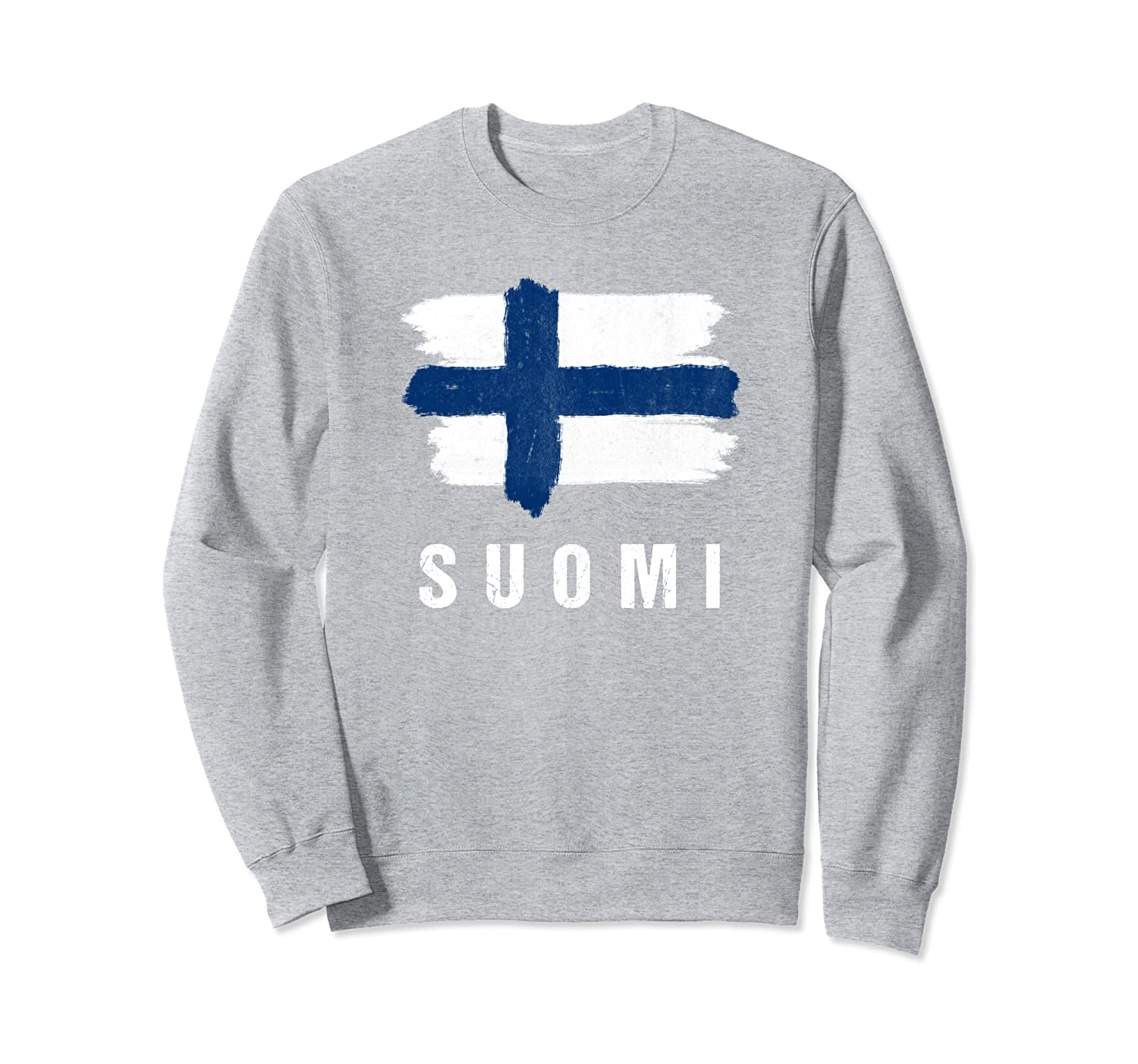 Vintage Painted Suomi Flag | Finland Flag Fan Gift Sweatshirt-TH