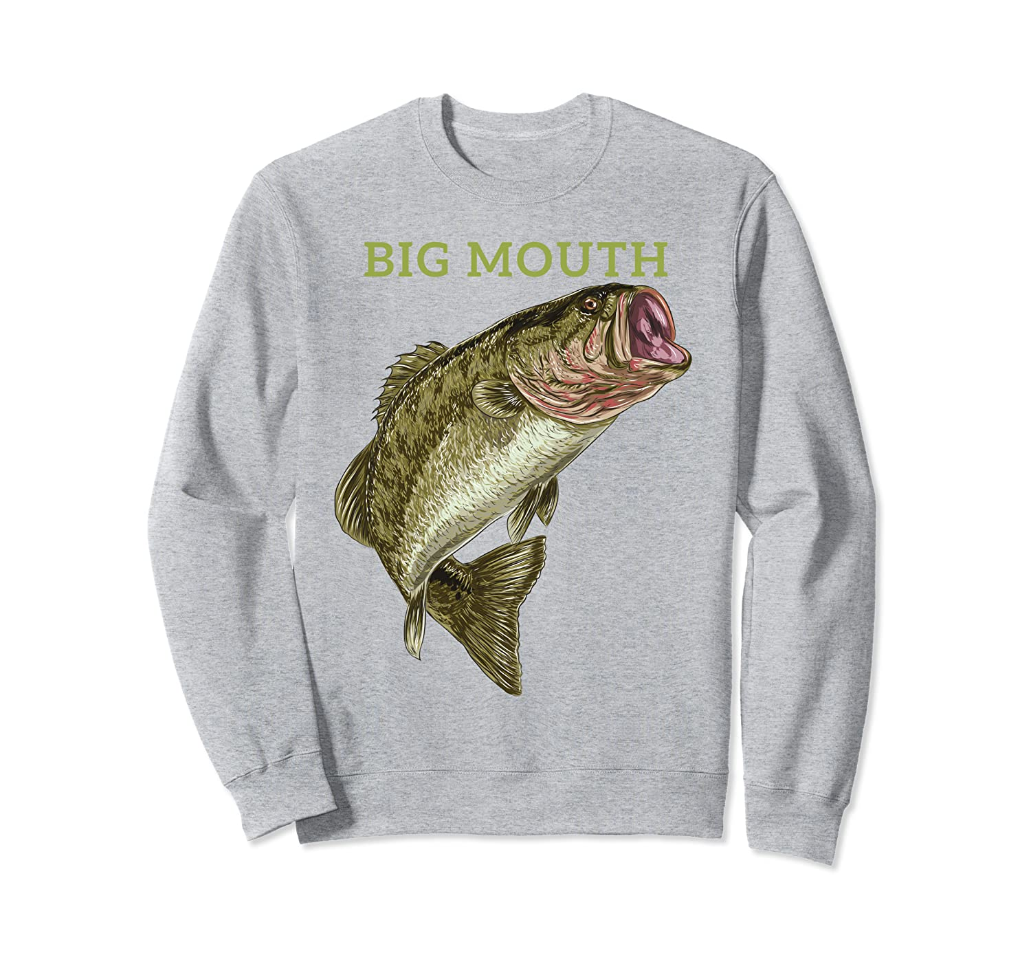 Bass big mouth funny fishing design, special for laughs gift Sweatshirt