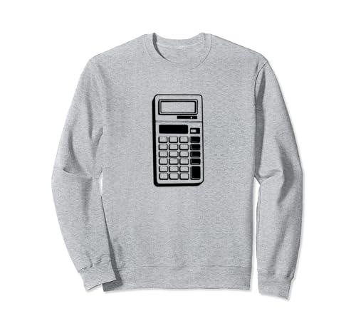 Retro School Calculator Print  Sweatshirt