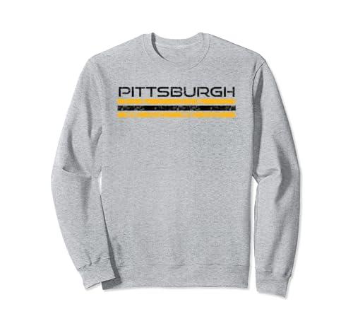 Pittsburgh Pennsylvania Retro Vintage Weathered Sweatshirt