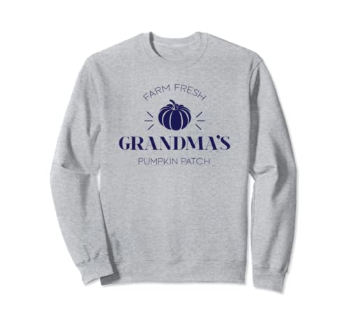 Grandma's Farm Fresh Pumpkin Patch Cute Gift Navy Sweatshirt
