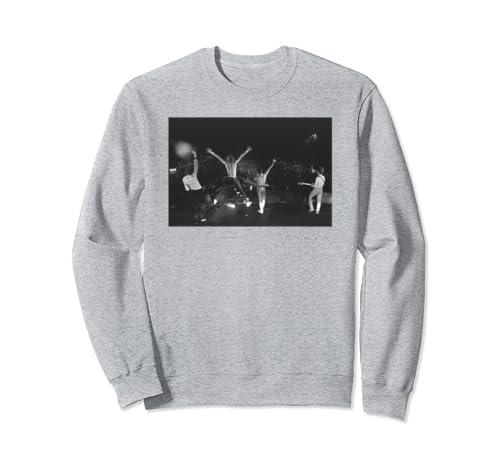Queen Official Crowd Shot Live B&W Photo Sweatshirt