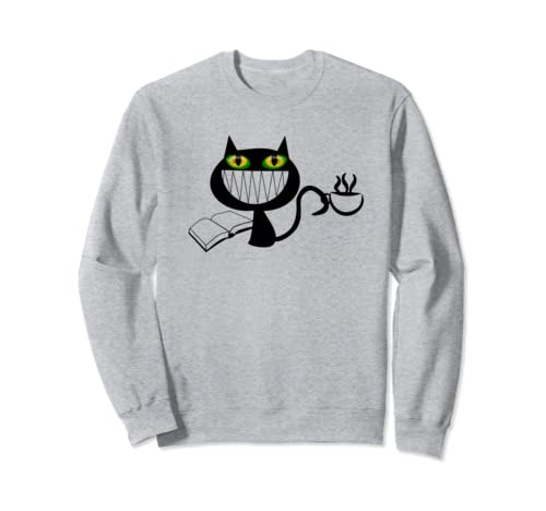 Librarian Gifts Cats Books Coffee Funny Design Sweatshirt