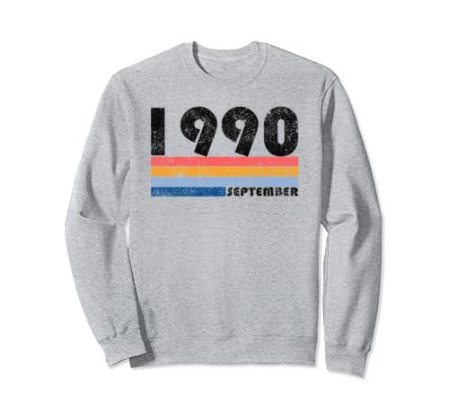 29th Birthday Gift Retro Born In September Of 1990 Sweatshirt