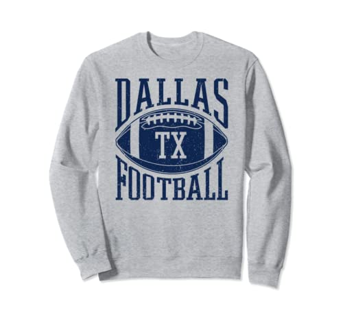 Dallas Texas Vintage Distressed Football Sweatshirt