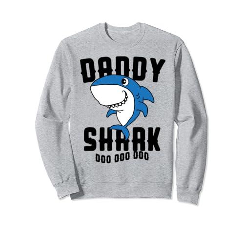 Daddy Shark For Dad Husband Father's Day Grandpa Summer Gift Sweatshirt