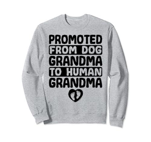 Promoted From Dog Grandma To Human Grandma Sweatshirt