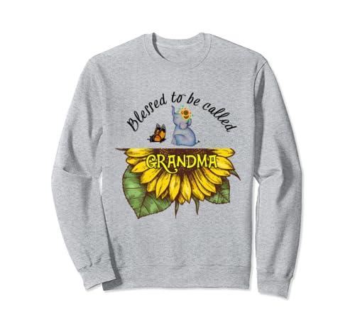 Sunflower Blessed To Be Called Grandma Funny Grandma Gift Sweatshirt